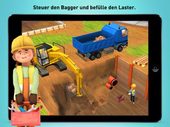 Kleine Bauarbeiter - Bagger, Laster und Kran für Kinder Screenshot