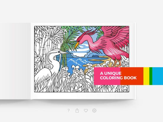 Tayasui Color, a relaxing coloring book for adults Screenshot