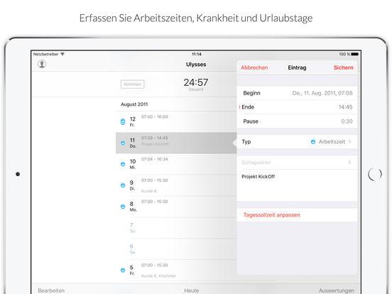 WorkTimes - Zeiterfassung mit Überstunden Berechnung Screenshots