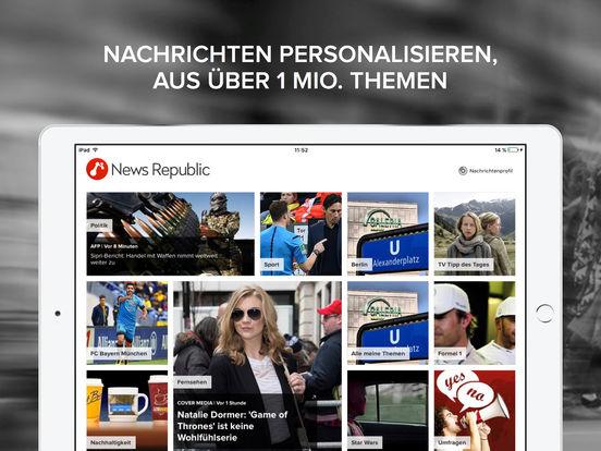 News Republic - Alle Ihre Nachrichten, jederzeit. Screenshot