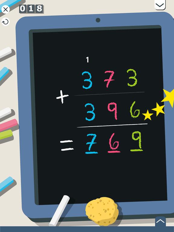 Montessori Math: Addieren & Subtrahieren von großen Zahlen Screenshot