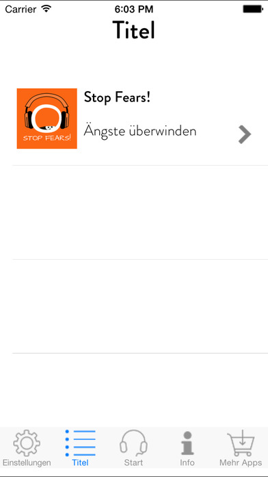 Screenshot for Stop Fears! Ängste überwinden mit Hypnose in Germany App Store