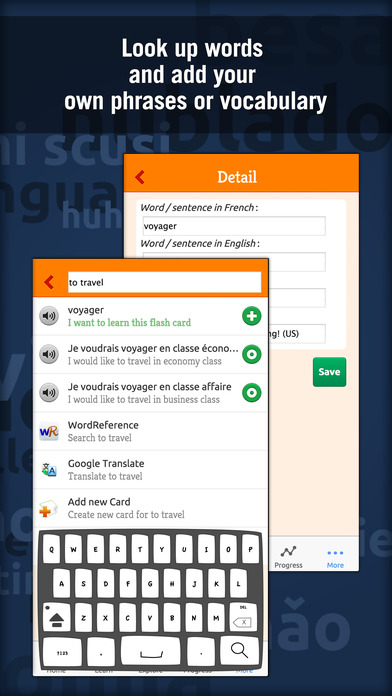 Learn to Speak French With MosaLingua Screenshot