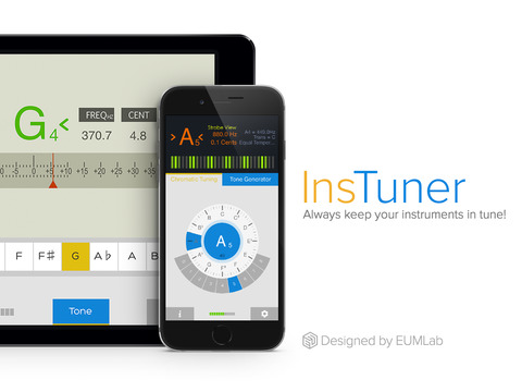 insTuner - Chromatic Tuner with Tone Generator iPad