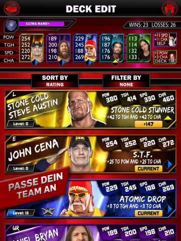 WWE SuperCard iPhone iPad