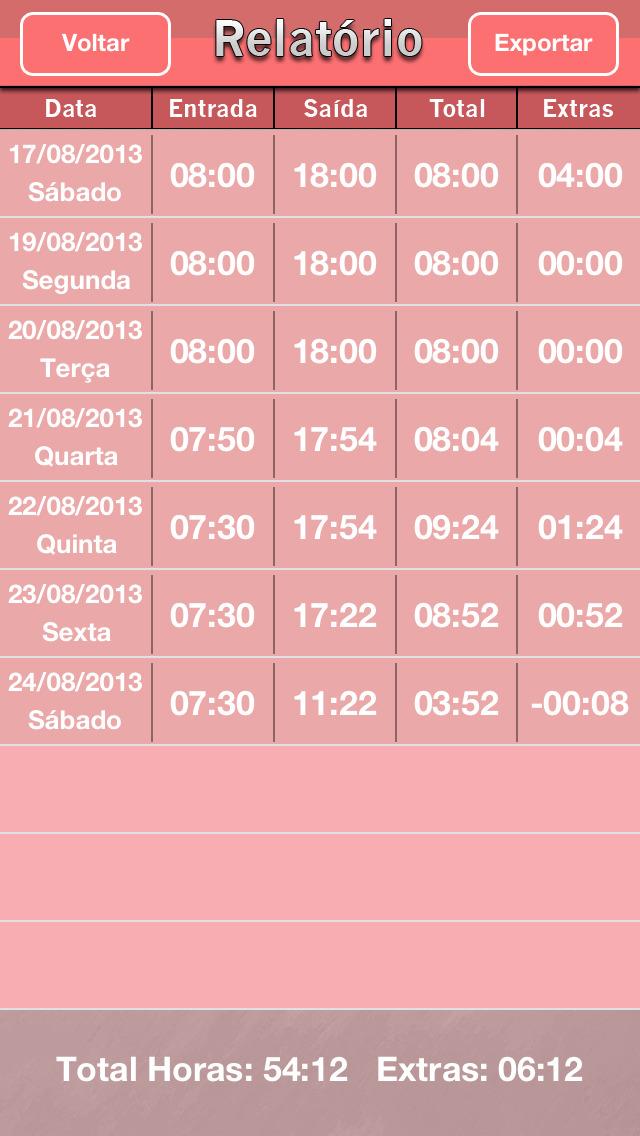 Screenshot for Horas Calc in Portugal App Store
