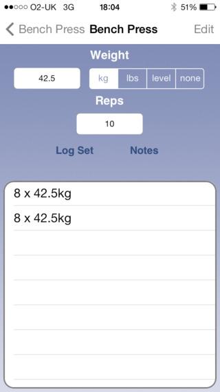 Easy Gym Log Screenshot