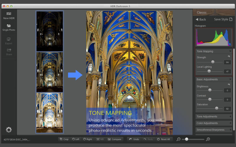 HDR Darkroom 3 - Professional HDR photos with the ultimate in ease-of-use Screenshot