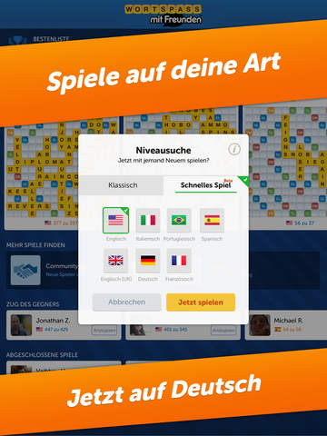 Wortspaß mit Freunden (Words With Friends) iPad