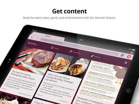 Webbrowser Opera Mini Screenshot