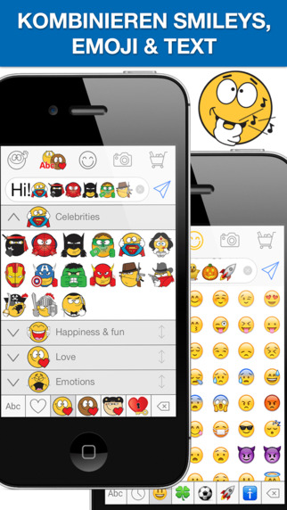 emojidom smilies und emoticons kostenlos f r whatsapp und nachrichten im app store. Black Bedroom Furniture Sets. Home Design Ideas