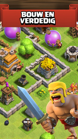 Clash of Clans iPhone app afbeelding 1
