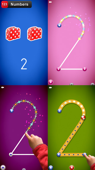 LetterSchool - learn to write letters and numbers Screenshot