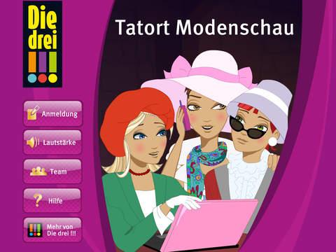 Die drei !!! – Tatort Modenschau iOS Screenshots