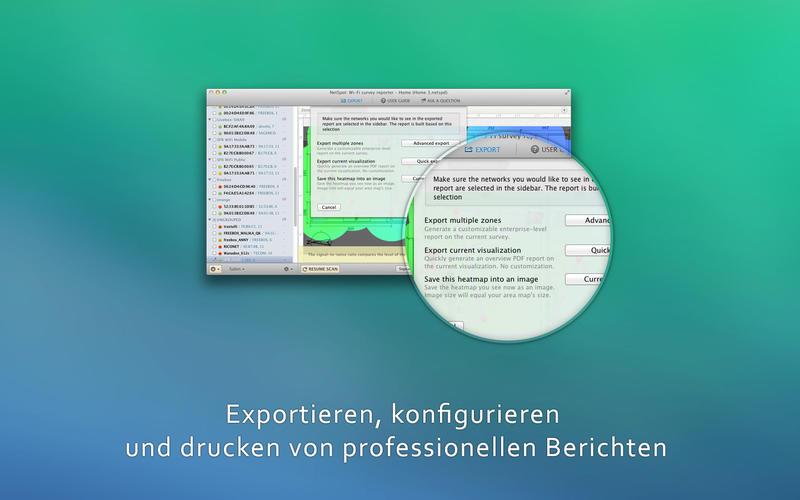 NetSpot Wi-Fi Reporter Screenshot