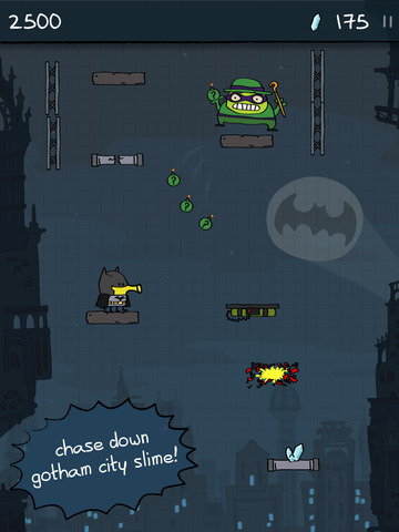 Doodle Jump DC Super Heroes iOS Screenshots