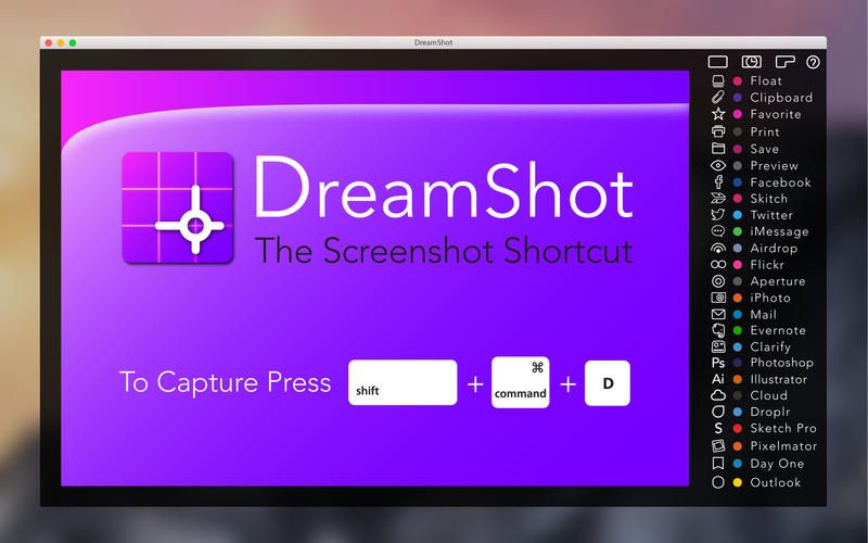 Dreamshot: Der Screenshot Shortcut Screenshot