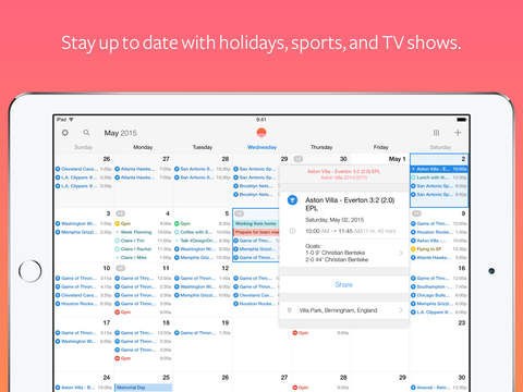 Sunrise-Kalender – Eine Outlook-App Screenshot