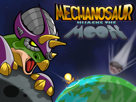 Mechanosaur Hijacks the Moon iOS Screenshots