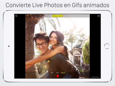 Live Pictures Cam & gif photo maker: share on Facebook, Twitter and Instagram Screenshot