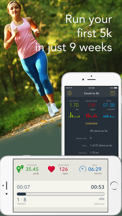 Run 5k gps pedometer couch to 5k plan app insight for Couch 5k app