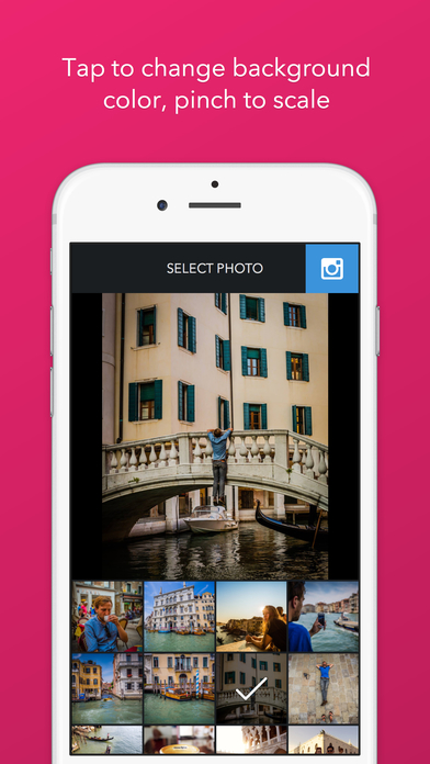 Trim - Post Full Size Photos to Instagram Screenshot