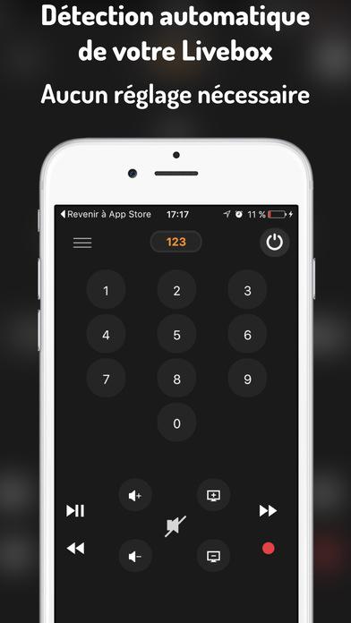 Livet l c t l commande orange livebox tv dans l app store - Application telecommande orange ...