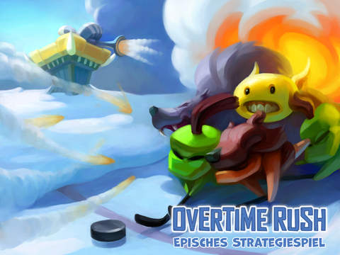 Overtime Rush – Episches Strategiespiel iOS Screenshots