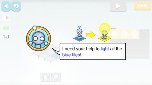 Lightbot : Programming Puzzles Screenshot