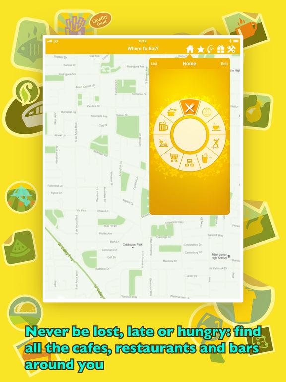 Where To Eat? - Find restaurants using GPS. Screenshot