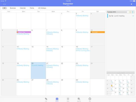 Extreme Calendar Screenshots