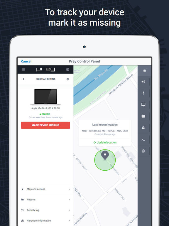 Prey Anti Theft – Mobile Tracking and Security Screenshot