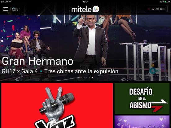 Mitele - TV a la carta Screenshot