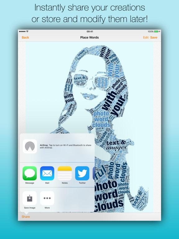 Phoetic - The amazing photo word cloud generator Screenshot