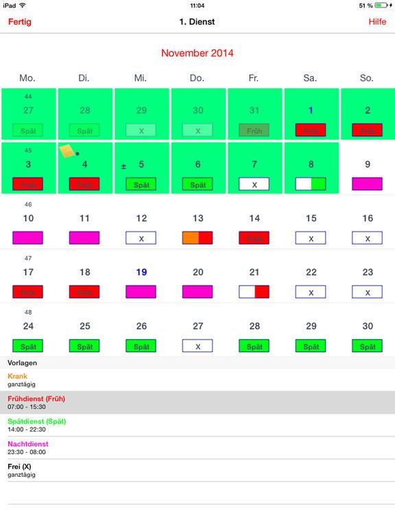 Dienstplan-Kalender Pro Screenshots
