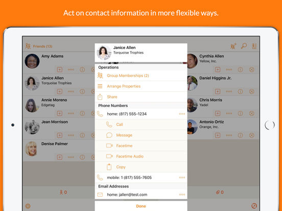 Interact - Do more with your Contacts! Screenshot