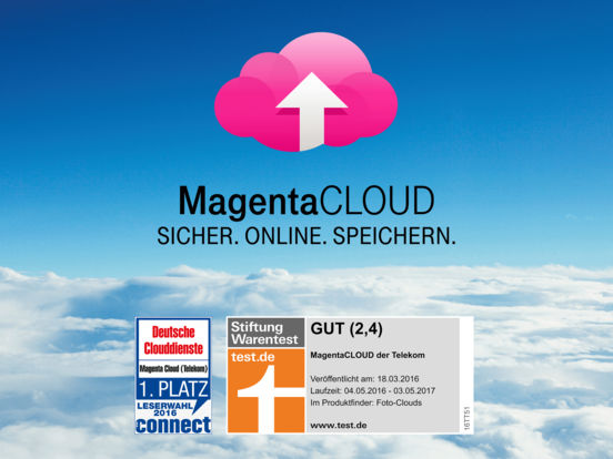 MagentaCLOUD Screenshot