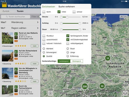 ADAC Wanderführer Deutschland 2016 Screenshots