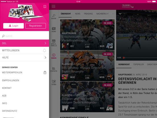 Telekom Eishockey Screenshot