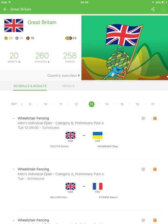Rio 2016 Paralympic Games Screenshot
