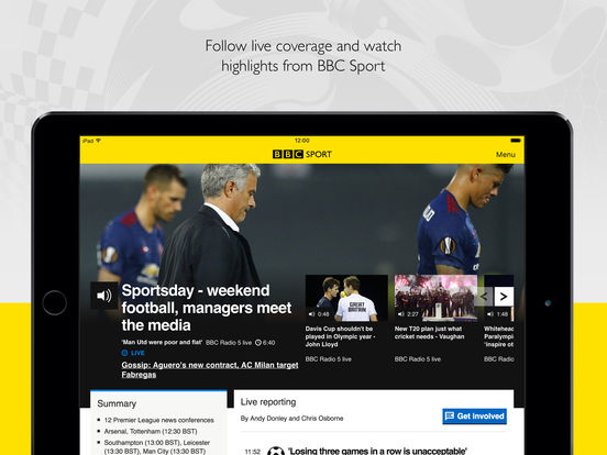 BBC Sport Screenshots