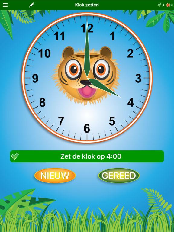 Jungle Tijd : leren klokkijken Screenshot
