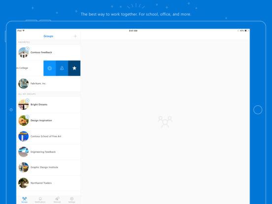 Outlook Groups Screenshot