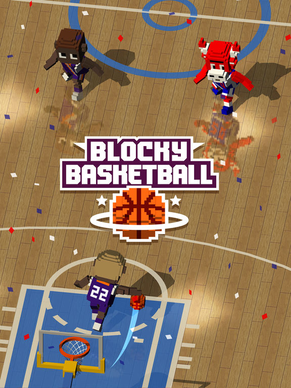 Blocky Basketball - Endless Arcade Dunker iOS Screenshots