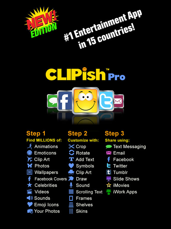 Clipish Pro Animations Clipart 3d Emoji Icons App Voor Iphone