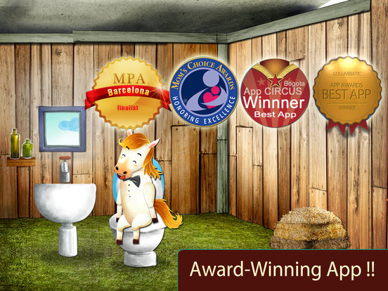 Potty Training:  Learning with the animals, loo Screenshots