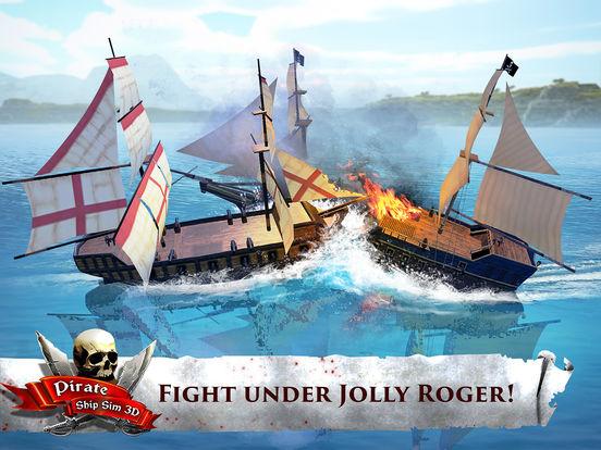 Pirate Ship Sim 3D - Sea Treasures Deluxe Screenshots