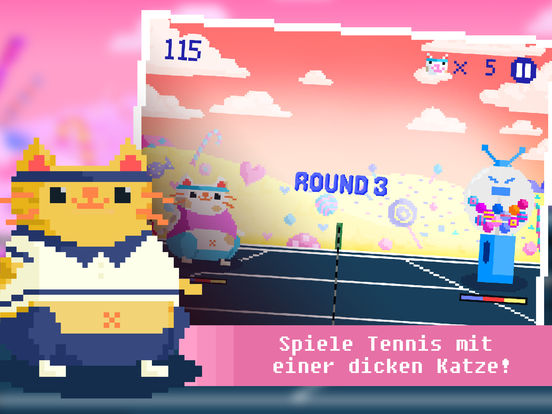 Candy Cat Tennis - Pixel Training iOS Screenshots