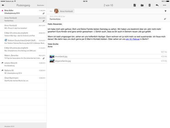 Telekom Mail Screenshot