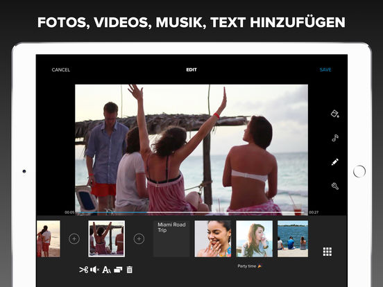 Quik Videobearbeiter – Videos mit Fotos, Musik Screenshot